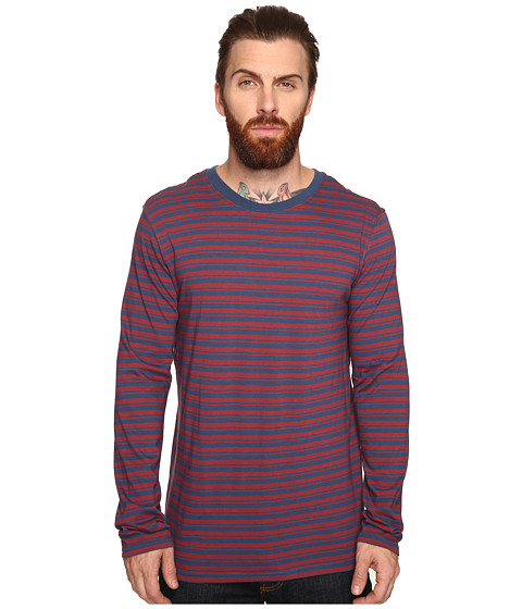 Tavik Ellington Long Sleeve Stripe Knit - Oxblood/Nightshade