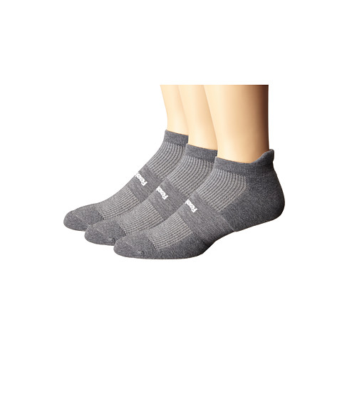 Feetures High Performance Cushion No Show Tab 3-Pair Pack - Heather Gray