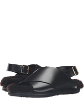 MARNI - Calf Leather/Shearling Sandal