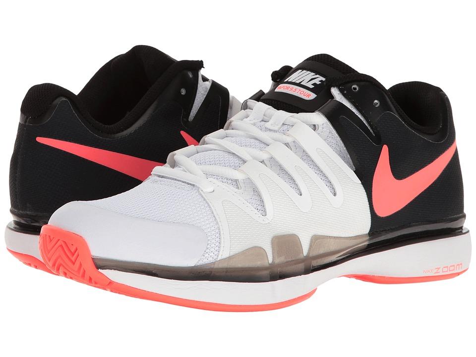Nike - Zoom Vapor 9.5 Tour (White/Hyper Orange/Black) Womens Tennis Shoes