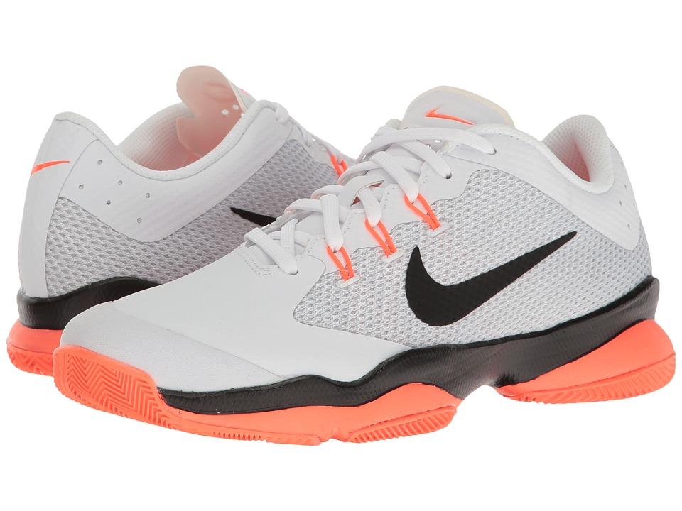 Nike - Air Zoom Ultra (White/Black/Hyper Orange/Pure Platinum) Womens Tennis Shoes