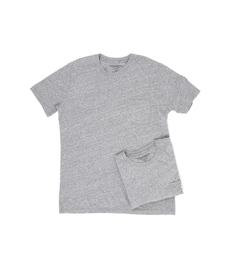Richer Poorer - Pocket Tee 2-Pack (Heather Grey) Mens T Shirt
