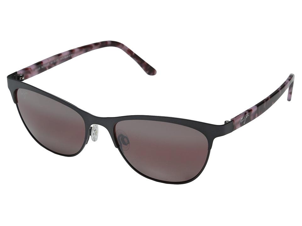 Maui Jim - Popoki (Satin Dark Gunmetal) Fashion Sunglasses