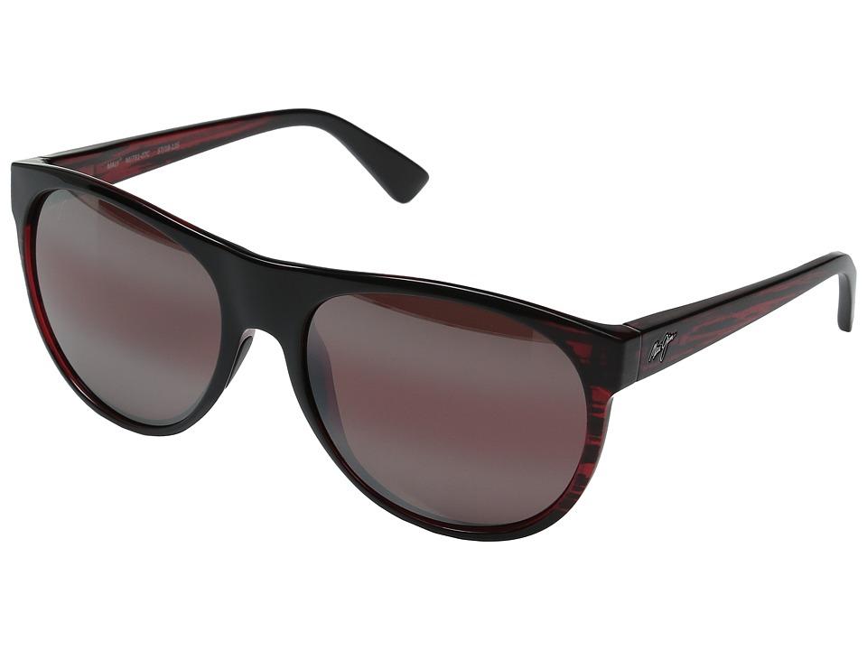 Maui Jim Rising Sun (Burgundy Stripe) Fashion Sunglasses