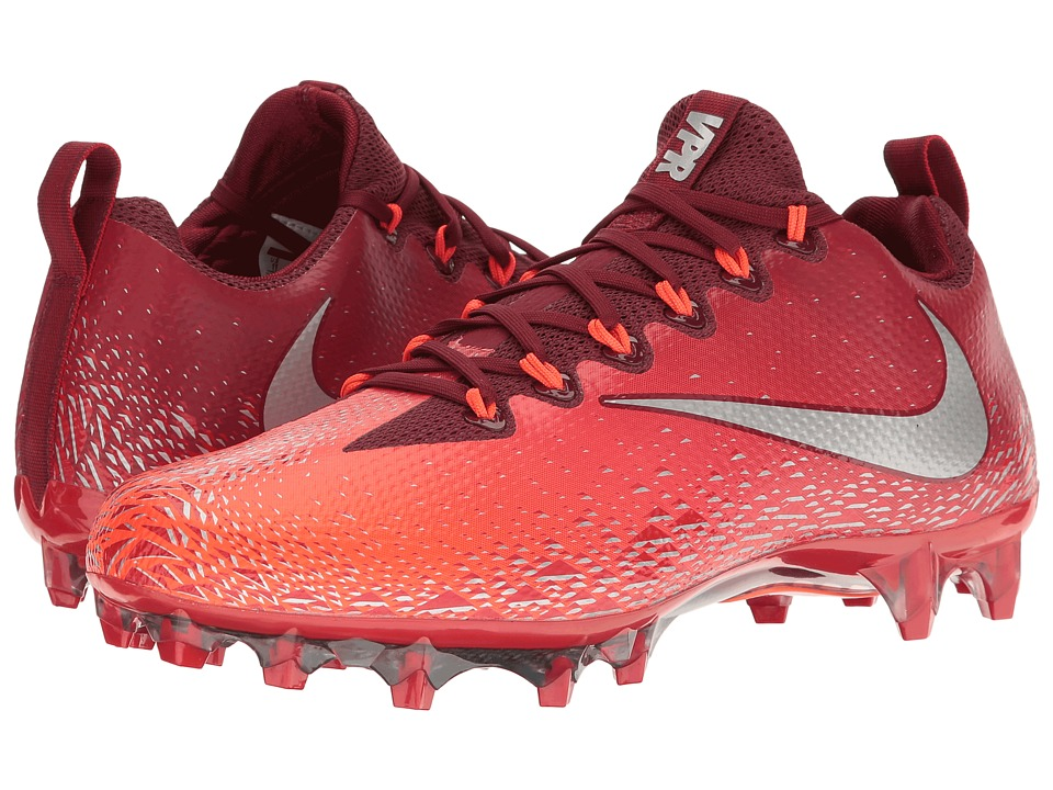 Nike - Vapor Untouchable Pro (Team Red/Metallic Silver/Total Crimson) Mens Cleated Shoes