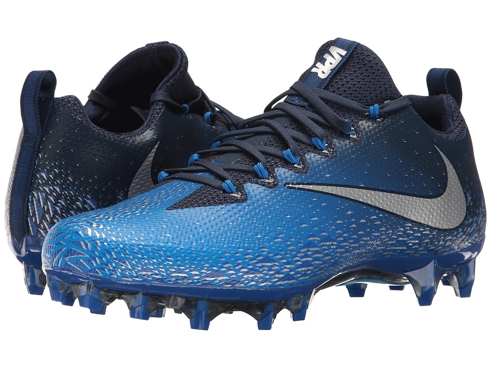 Nike - Vapor Untouchable Pro (Midnight Navy/Metallic Silver/Photo Blue) Mens Cleated Shoes