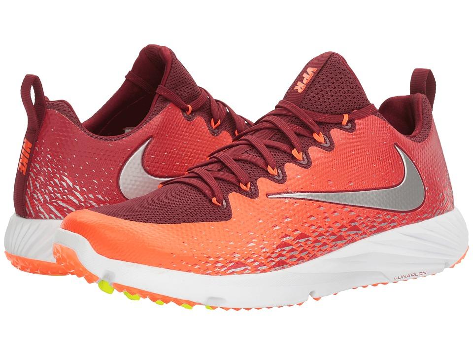 Nike Vapor Speed Turf (Team Red/Metallic Silver/Total Crimson) Men