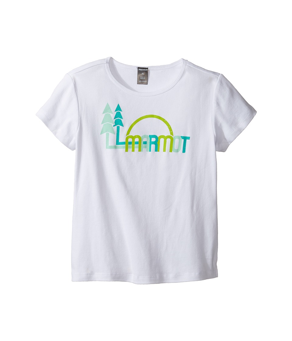 Marmot Kids - Scout Short Sleeve Tee (Little Kids/Big Kids) (White) Girls T Shirt