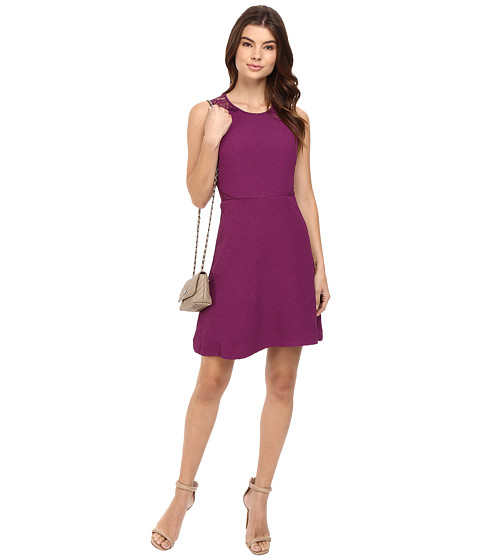 kensie Textured Dot Dress KS0K7242 - Rich Violet