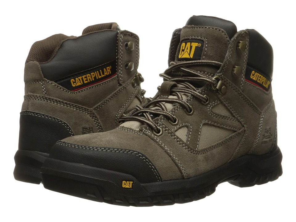Caterpillar - Plan (Worn Brown) Men's Work Lace-up Boots