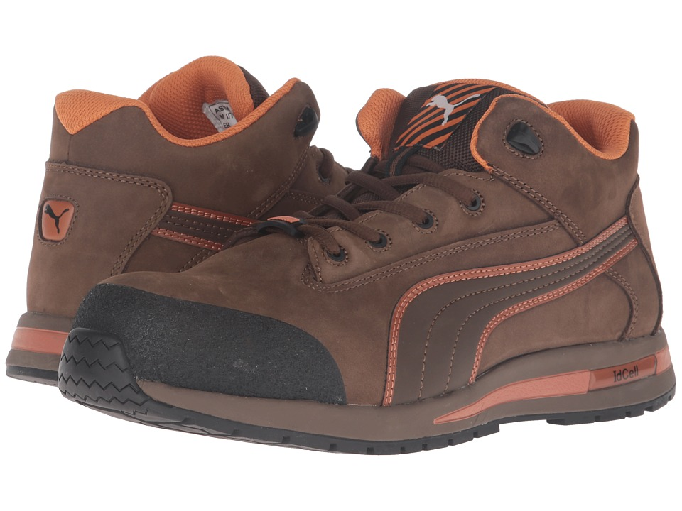 PUMA Safety - Dash Mid EH (Brown) Mens Work Boots