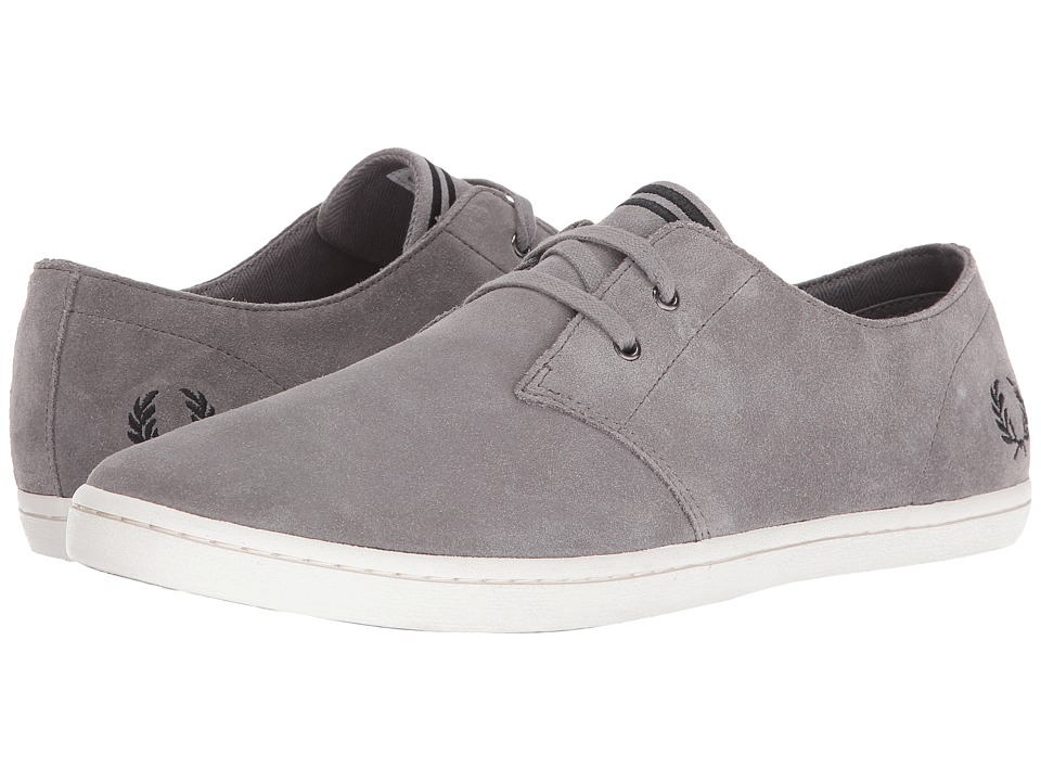 Fred Perry Byron Low Suede (Falcon Grey/Black) Men