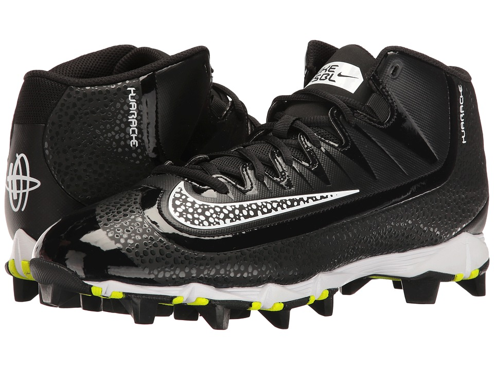 Nike - Huarache 2KFilth Keystone Mid (Black/White/Anthracite) Mens Cleated Shoes