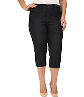 NYDJ Plus Size - Plus Size Ariel Crop Jeans in Dark Enzyme
