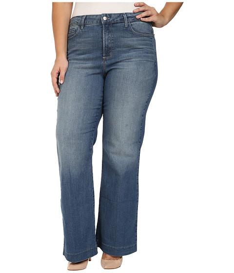 NYDJ Plus Size Plus Size Addison Wide Leg Trouser Jeans in Istanbul - Istanbul