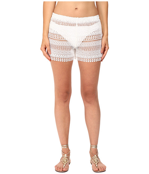 Queen & Pawn Marathi Lace Vintage-Dyed Beach Shorts
