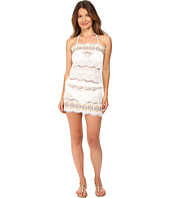 Queen & Pawn - Kea Lace Embroidered Strapless Beach Dress