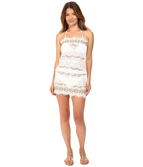 Queen & Pawn Kea Lace Embroidered Strapless Beach Dress
