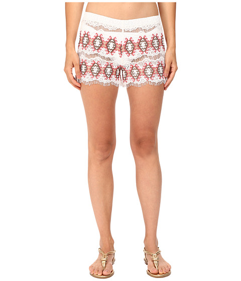 Queen & Pawn Kea Lace Embroidered Shorts