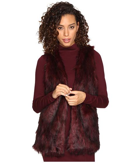 kensie Tipped Fur Vest KSNK2111