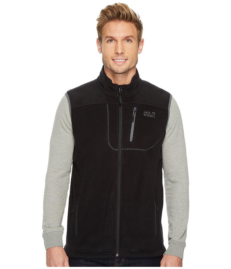 Jack Wolfskin Thunder Bay Vest (Black) Men's Vest