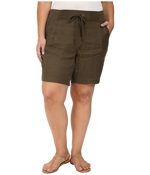 NYDJ Plus Size Plus Size Candice Shorts in Fatigue