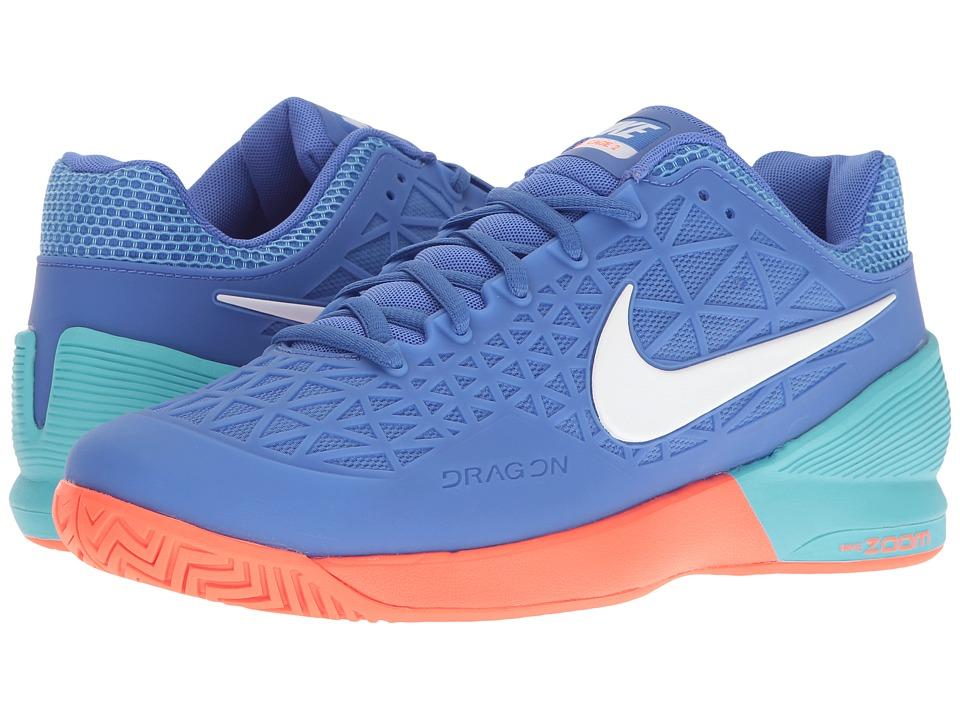 Nike - Zoom Cage 2 (Medium Blue/White/Polarized Blue) Mens Tennis Shoes