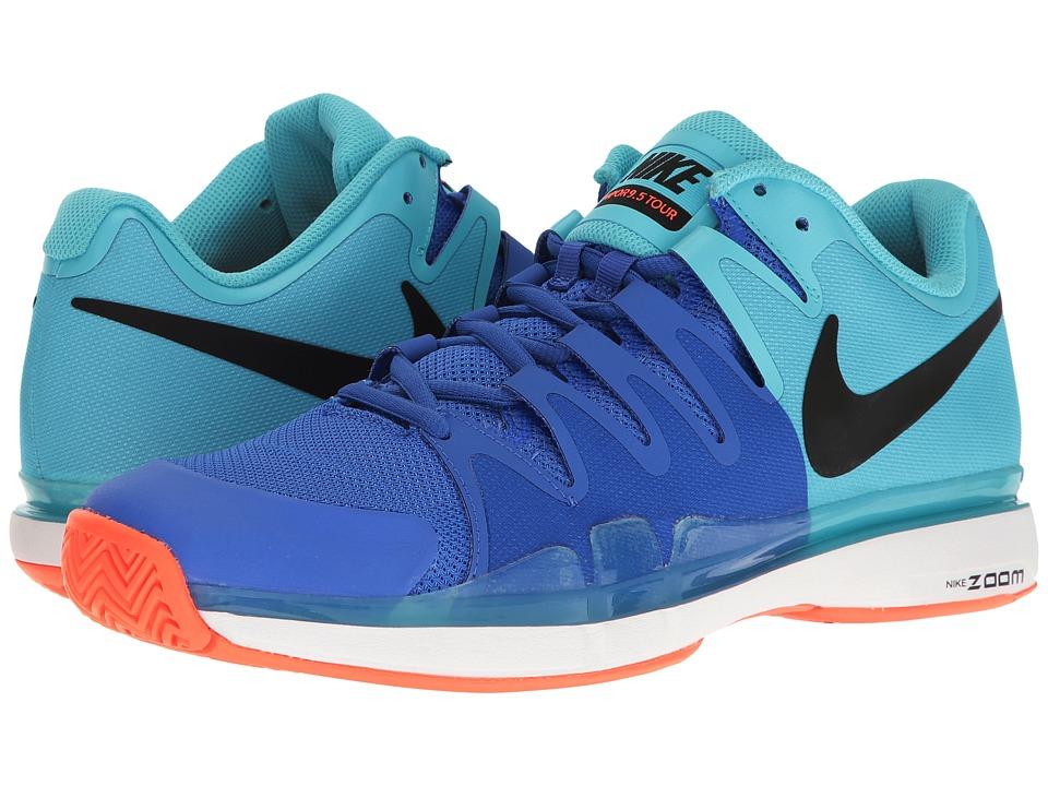 Nike - Zoom Vapor 9.5 Tour (Polarized Blue/Black/Medium Blue) Mens Tennis Shoes