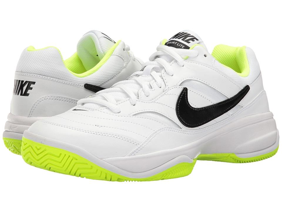 Nike - Court Lite (White/Black/Volt) Mens Tennis Shoes