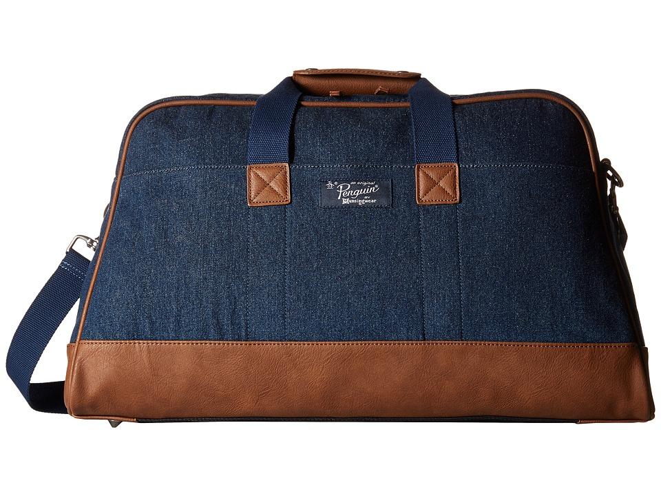 Original Penguin - Denim Weekender (Dark Sapphire) Weekender/Overnight Luggage