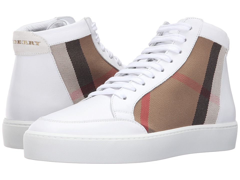 Burberry Salmond High Top (Pale Lemon) Women