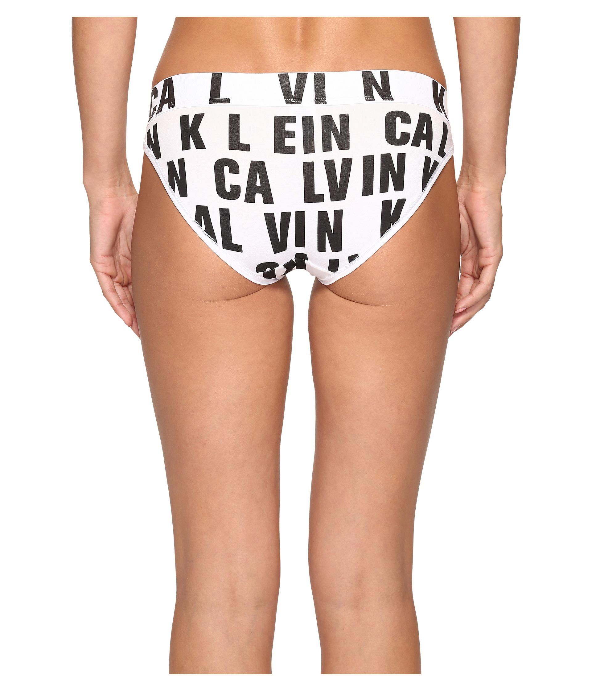 Calvin klein signature logo bikini sale happy see