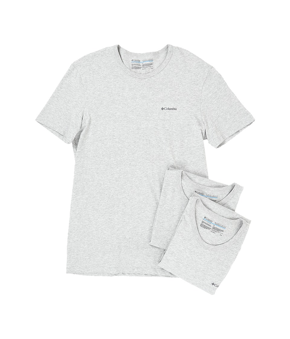 Columbia 100% Cotton Crew T-Shirt 3-Pack (Grey Heather) Men