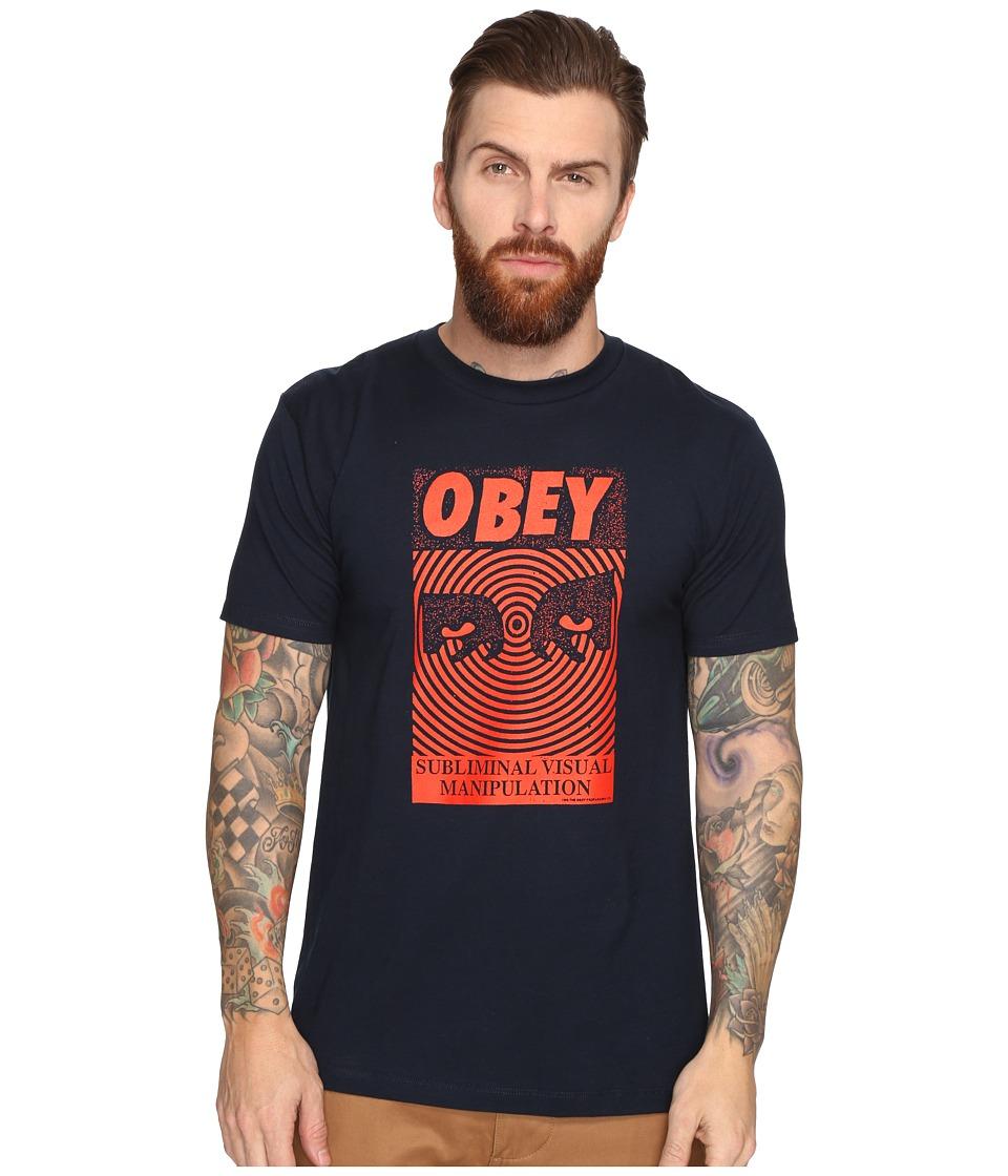 Obey Subliminal Visual (Navy) Men