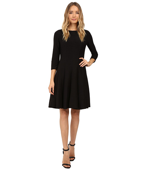Christin Michaels Andrea 3/4 Sleeve Fit and Flare Dress