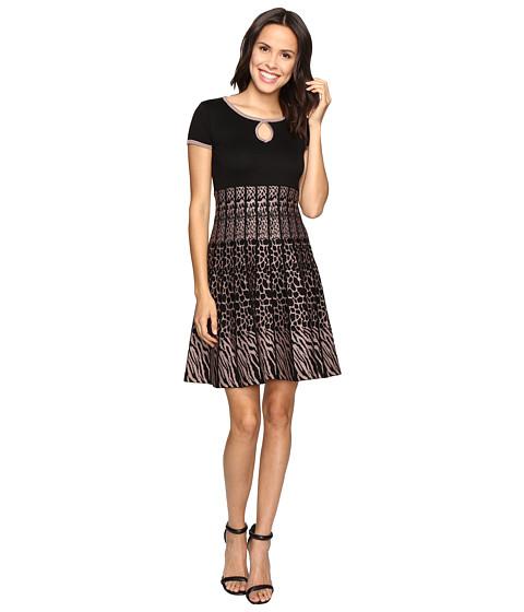 Christin Michaels Saida Short Sleeve Sweater Dress with Keyhole