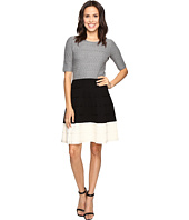 Christin Michaels - Kaira Color Block Fit and Flare Sweater Dress