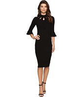 Christin Michaels - Asha Bell Sleeve Keyhole Midi Dress