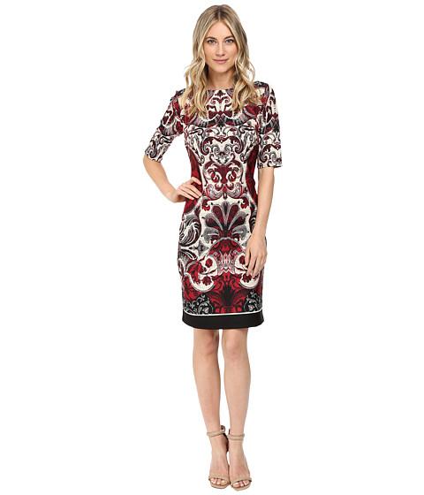 Christin Michaels Kyra Short Sleeve Scuba Dress