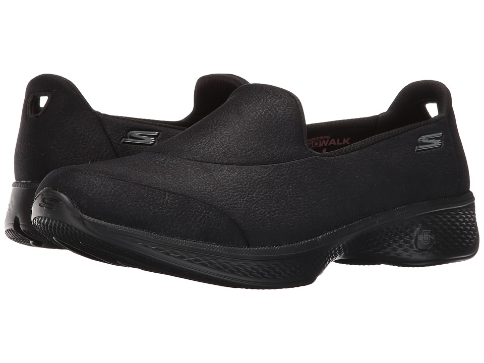 SKECHERS Performance - Go Walk 4 - Inspire (Black) Womens  Shoes