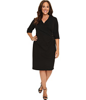 Christin Michaels - Plus Size Jullie 3/4 Sleeve Wrap Dress
