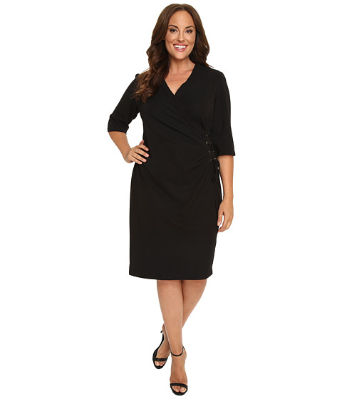 Christin Michaels Plus Size Jullie 3/4 Sleeve Wrap Dress