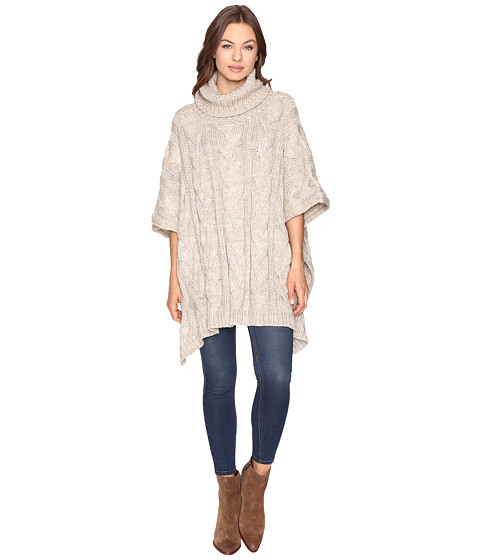 Christin Michaels Maia Cable Knit Turtleneck Poncho