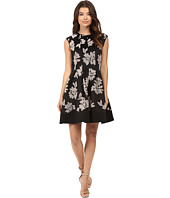 rsvp - Kahea Flocked Scuba Fit and Flare Dress