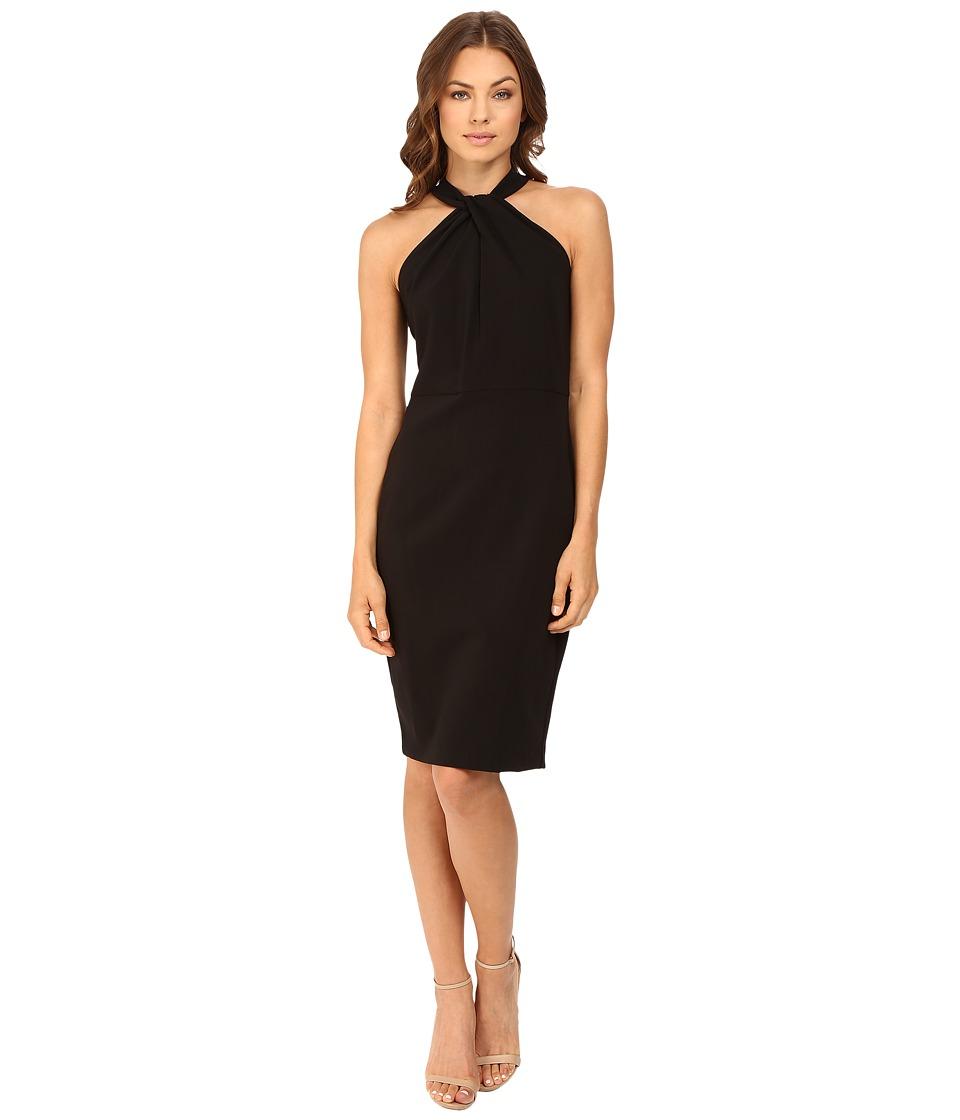 Christin Michaels Amal Crepe Halter Dress (Black) Women