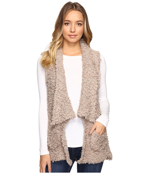 Brigitte Bailey Cass Fur Vest - Beige