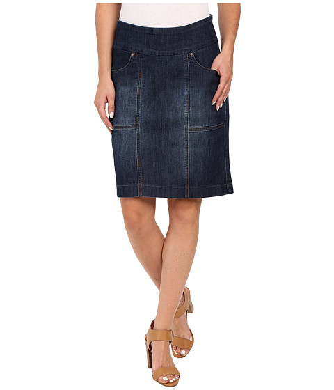 Jag Jeans Janelle Pull-On Skirt Comfort Denim in Blue Shadow - Blue Shadow