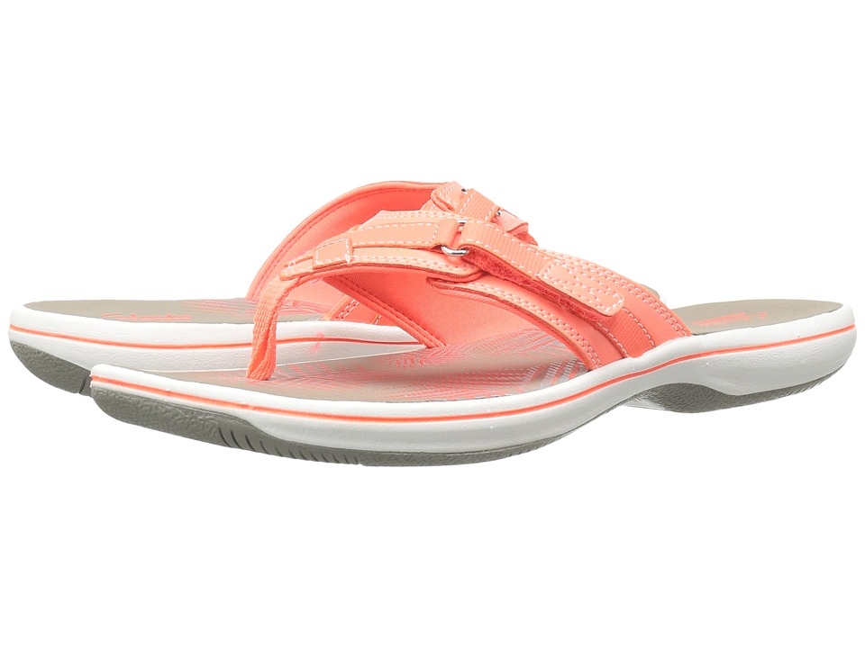 Clarks Breeze Sea (Coral Synthetic) Women's Sandals
