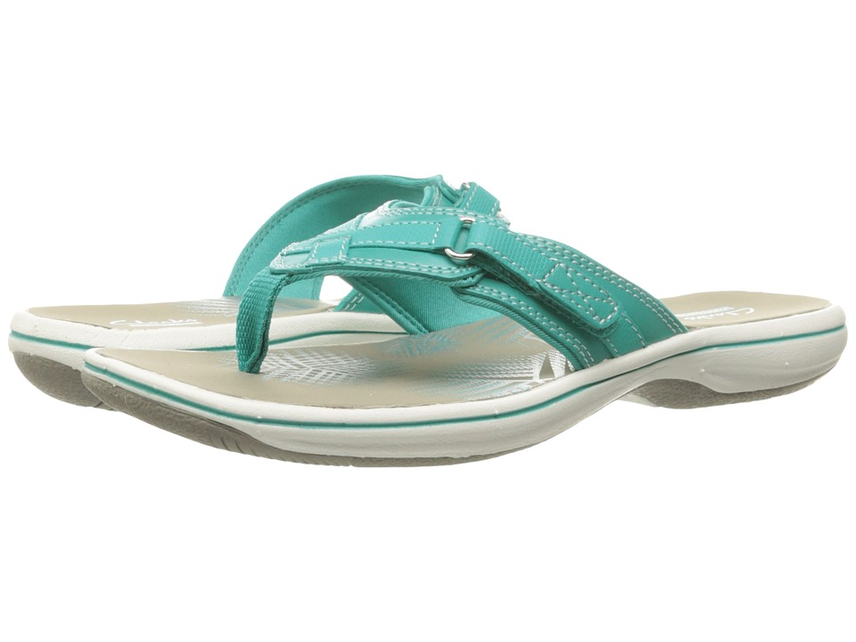 Clarks Breeze Sea (Turquoise Synthetic) Women's Sandals
