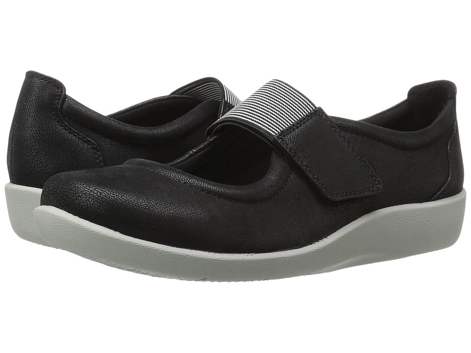 Clarks - Sillian Cala (Black Synthetic Nubuck) Women's Sandals